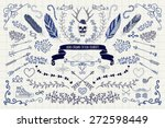 set of vintage hand drawn... | Shutterstock .eps vector #272598449
