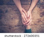close up on a man and a woman... | Shutterstock . vector #272600351