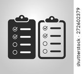 checklist icon design   black... | Shutterstock .eps vector #272602379