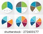 vector circle lines... | Shutterstock .eps vector #272603177