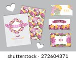 elegant cards with floral... | Shutterstock .eps vector #272604371