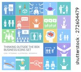 thinking outside the box vector ... | Shutterstock .eps vector #272604479