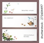 set of banners hand drawn in... | Shutterstock .eps vector #272604497