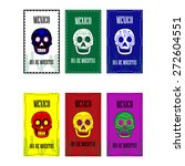 mexican poster set. dia de... | Shutterstock .eps vector #272604551