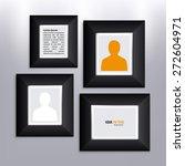 vector set of photo frames on... | Shutterstock .eps vector #272604971