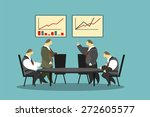 businessmen of the round table... | Shutterstock .eps vector #272605577