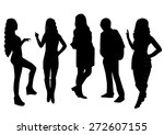 woman and man silhouettes design | Shutterstock .eps vector #272607155
