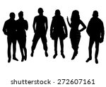 woman and man silhouettes design | Shutterstock .eps vector #272607161