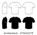 man's t shirt with pocket | Shutterstock .eps vector #272610179