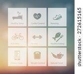 healthy living square white... | Shutterstock .eps vector #272615165