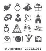 wedding icons | Shutterstock . vector #272621081