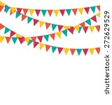 multicolored bright buntings... | Shutterstock .eps vector #272629529