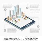 supermarkets  skyscrapers and... | Shutterstock .eps vector #272635409