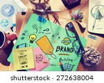 brand branding marketing... | Shutterstock . vector #272638004
