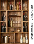 Shelving With Wine Bottles Wit...
