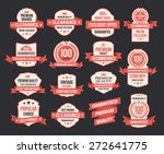 vector set of vintage retro... | Shutterstock .eps vector #272641775