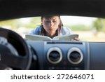 caucasian businesswoman has a... | Shutterstock . vector #272646071