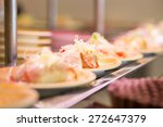 sushi and sashimi. dishes of... | Shutterstock . vector #272647379