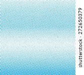 vector halftone dots. blue dots ... | Shutterstock .eps vector #272650379
