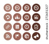analytics  research icons... | Shutterstock .eps vector #272651327