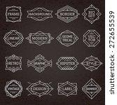 modern hipster linear minimal... | Shutterstock .eps vector #272655539