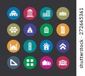 architecture icons universal... | Shutterstock .eps vector #272665361