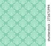 damask seamless floral... | Shutterstock .eps vector #272671994