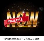 available now metallic label...   Shutterstock .eps vector #272673185