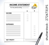 income statement  tax return... | Shutterstock .eps vector #272673191