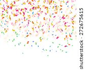 white background with confetti... | Shutterstock .eps vector #272675615