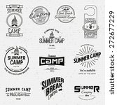 summer camp badges logos and... | Shutterstock .eps vector #272677229