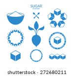 sugar. icon set. vector... | Shutterstock .eps vector #272680211