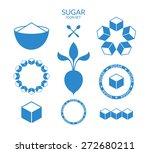 sugar. icon set. vector... | Shutterstock .eps vector #272680211
