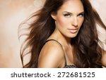 portrait of beautiful woman... | Shutterstock . vector #272681525