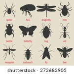 insects icons set   vector... | Shutterstock .eps vector #272682905
