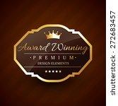 golden award winning premium... | Shutterstock .eps vector #272683457