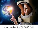 child is dressed in an... | Shutterstock . vector #272691845