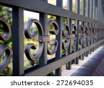metal fence   close up | Shutterstock . vector #272694035