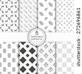 vector set seamless pattern... | Shutterstock .eps vector #272696861