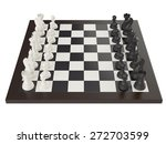 3d Illustration Of Chess On...