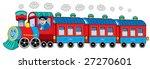 steam locomotive with engine...   Shutterstock .eps vector #27270601