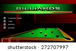 billiards game interface | Shutterstock .eps vector #272707997