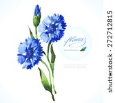 Vector Watercolor Blue...