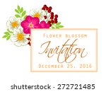 flower blossom. romantic... | Shutterstock .eps vector #272721485
