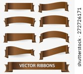brown various curved empty... | Shutterstock .eps vector #272726171