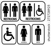 restroom sign | Shutterstock .eps vector #272728925