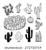 cactus collection vector... | Shutterstock .eps vector #272733719