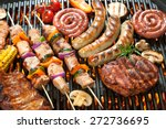 assorted delicious grilled meat ... | Shutterstock . vector #272736695