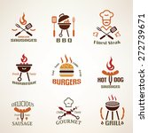 set of vintage barbecue and... | Shutterstock .eps vector #272739671