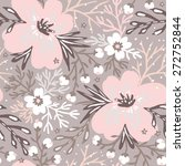vector floral seamless pattern... | Shutterstock .eps vector #272752844